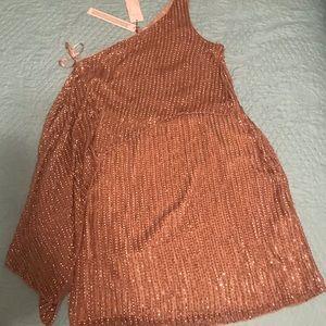 Parker One Shoulder Beaded Cocktail Dress
